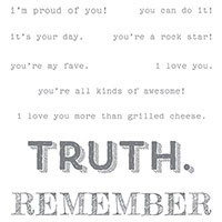 Words Of Truth Wood-Mount Stamp Set