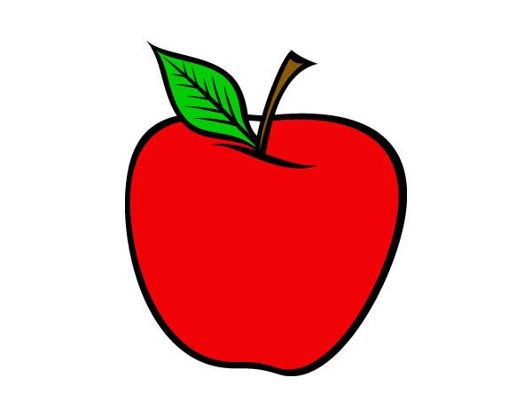 Dibujo De Manzana Roja Pintado Por Isabellatp En Dibujos Net El Dia