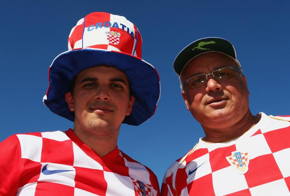 Croatia fans before the opening ceremony of the 2014 FIFA World Cup Brazil before the Group A match between Brazil and Croatia at Arena de Sao Paulo on June 12.