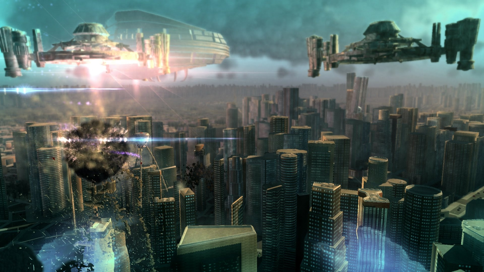 First-person superhero game Megaton Rainfall hits PS4 in September screenshot