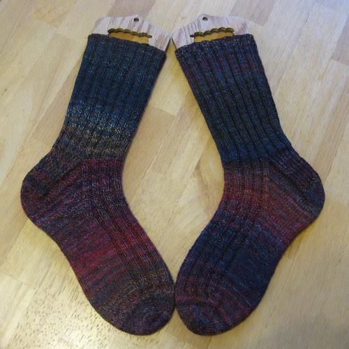 merino/silk socks