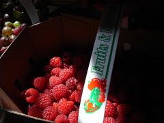 raspberries, gooseberries
