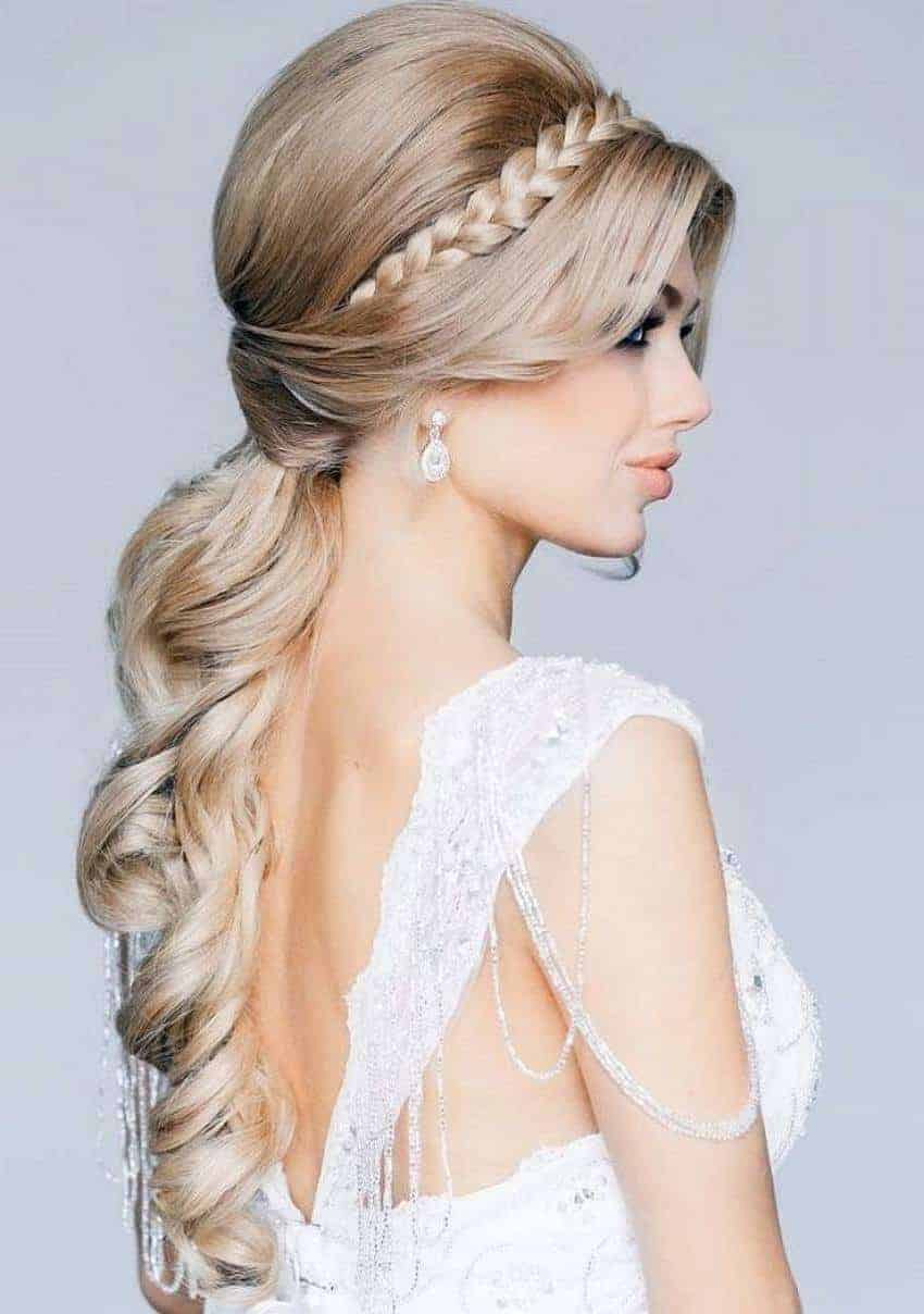 bridal  hairstyles  for long  hair  2019 Women styles