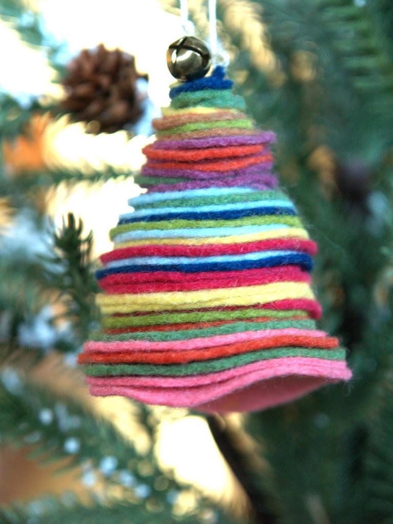Felt Christmas Tree Ornament - The Magic Onions