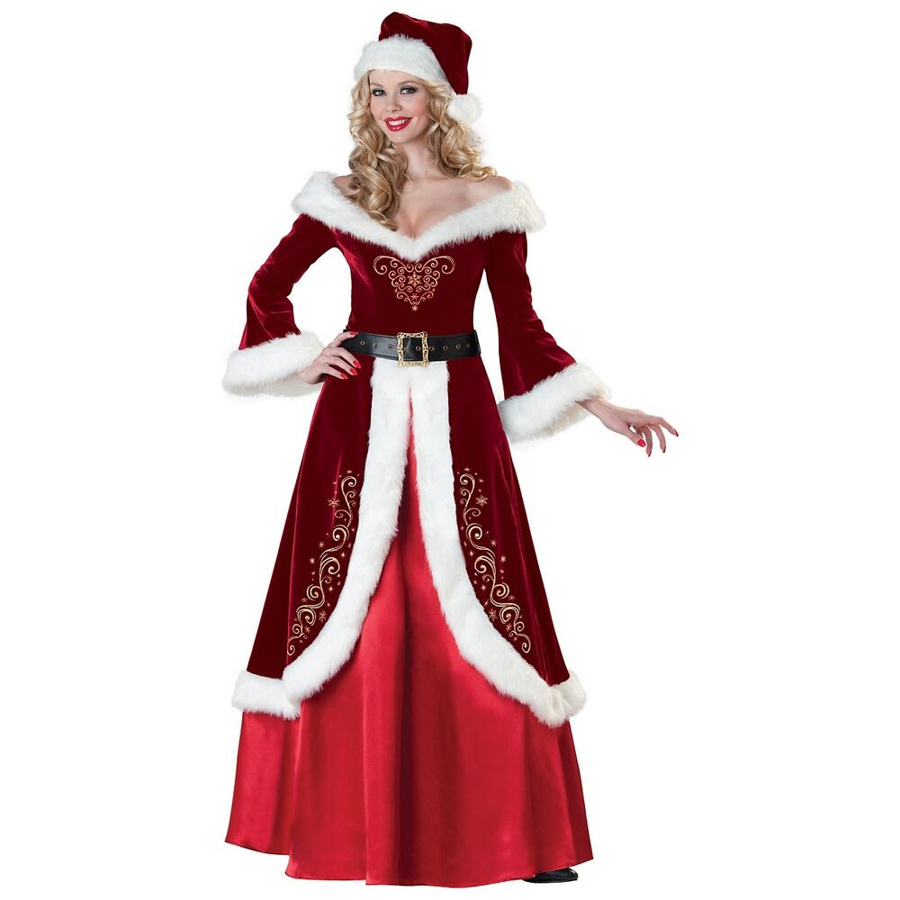 mrs claus costume adult mrs santa christmas outfit fancy