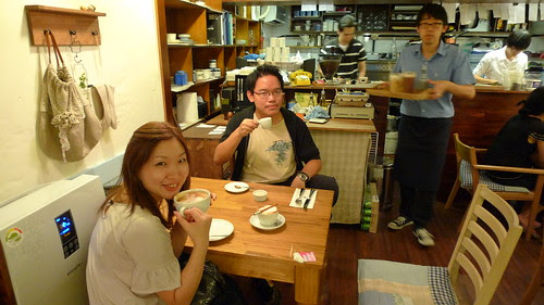 With Tomoko at the BE. SWEET ON dessert shop