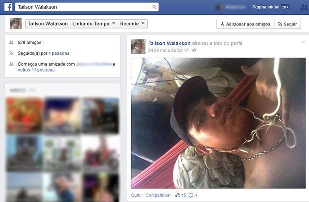 Segundo direção do CDP,  Tailson Walakson Silva Sales, de 22 anos, vai responder pelos celulares encontrados na cela (Foto: Reprodução/Facebook)