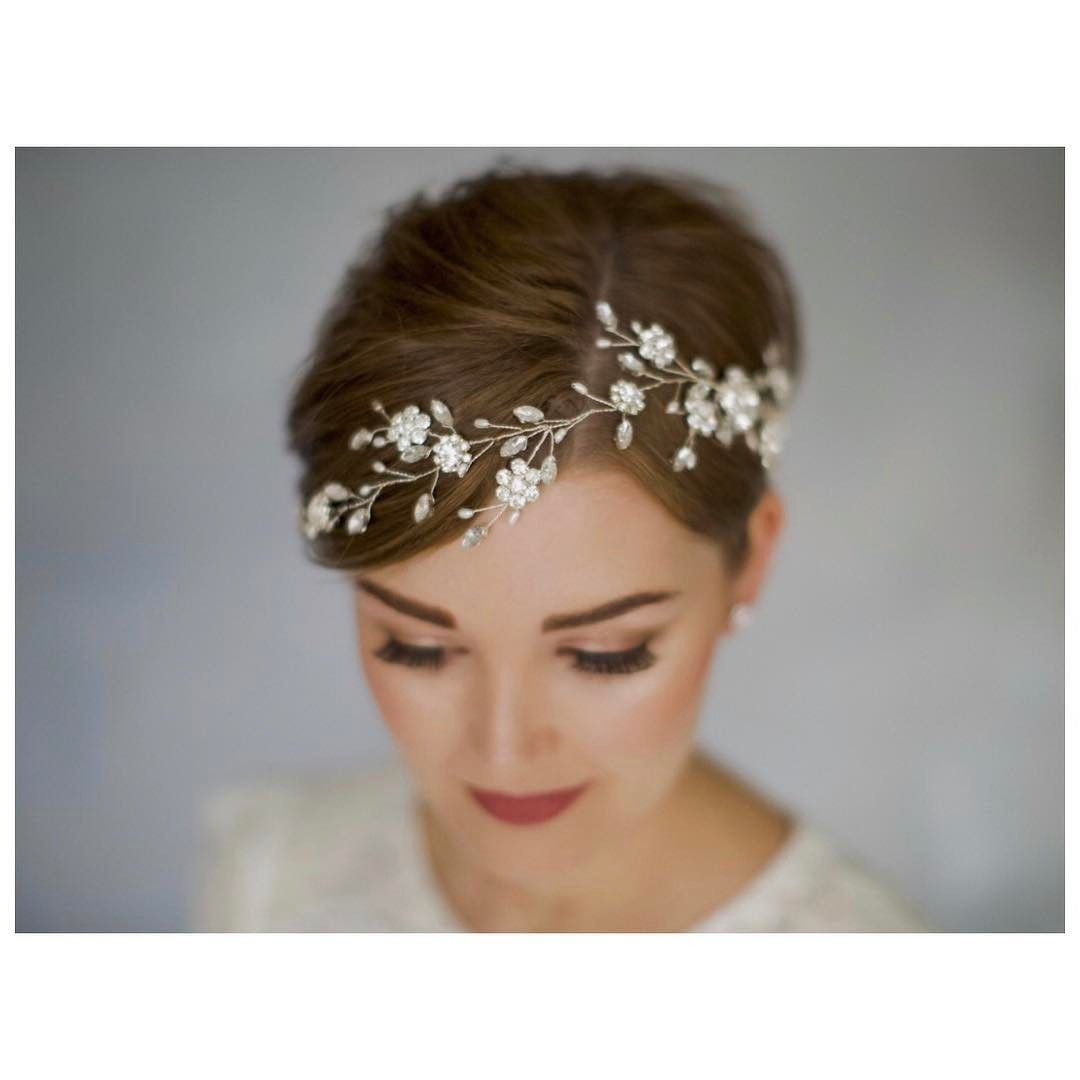 Braut Haarschmuck Kurze Haare Haarnetz Vintage Braut Kopfschmuck