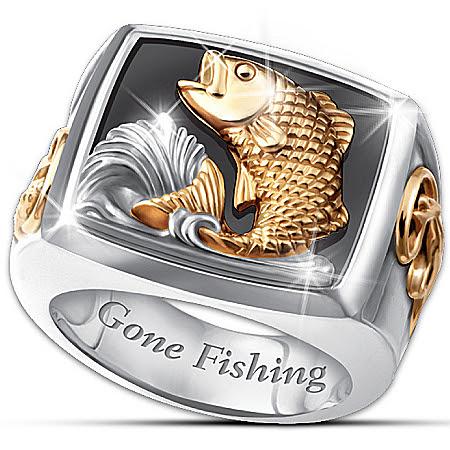 Men's Ring: Gone Fishing Ring