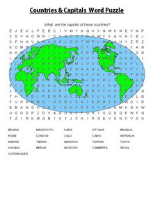 ESL, Countries and World Geography Printable ESL Worksheets