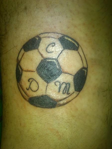 Football Tattoo On Side