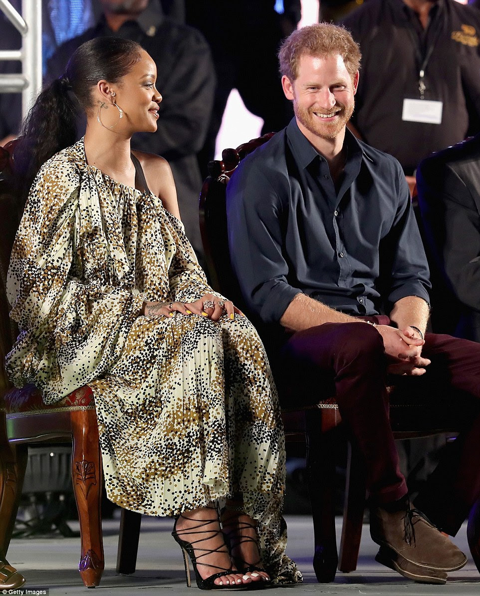 Prince Harry and Rihanna appeared to be fast friends on Wednesday night as they attended theGolden Anniversary Spectacular Mega Concert at the Kensington Oval Cricket Ground