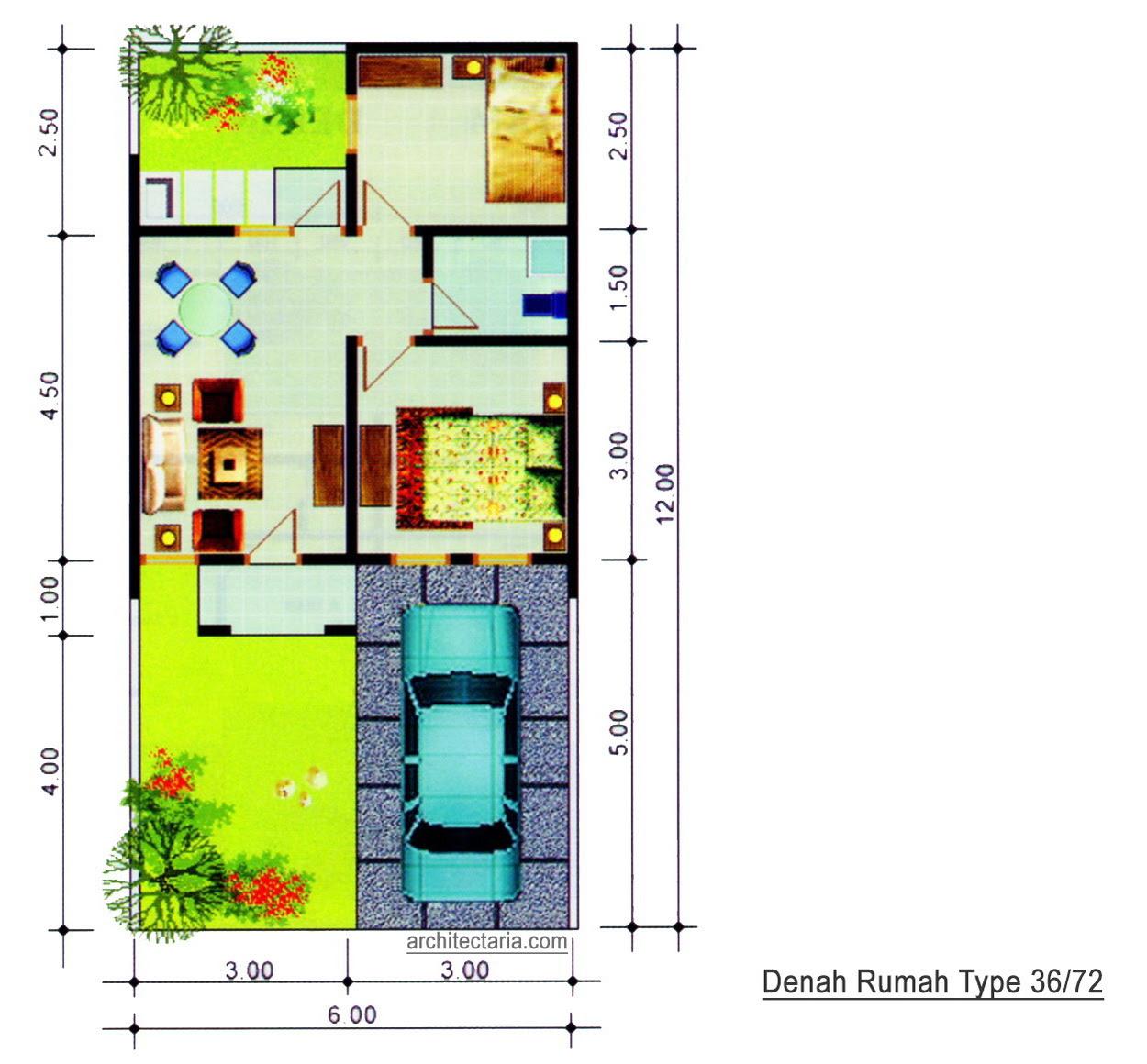 Desain Rumah Mungil Type 36 | PT. Architectaria Media Cipta