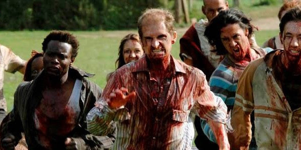 28 Days Later group of zombies