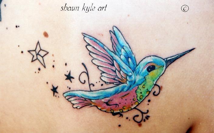 hummingbird tattoo 2