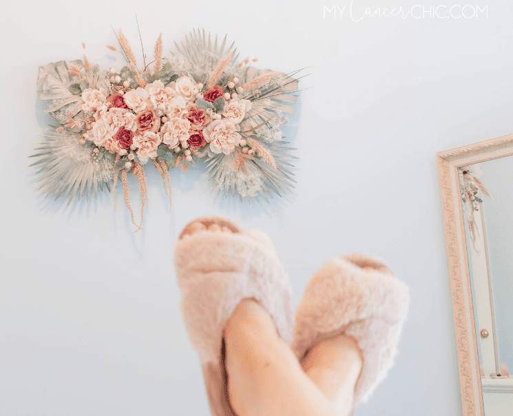 Diy Oversized Dried Floral Wall Art My Cancer Chic