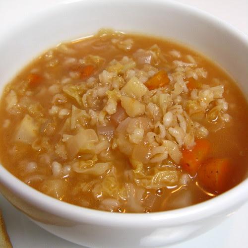 WInter CSA Barley Soup