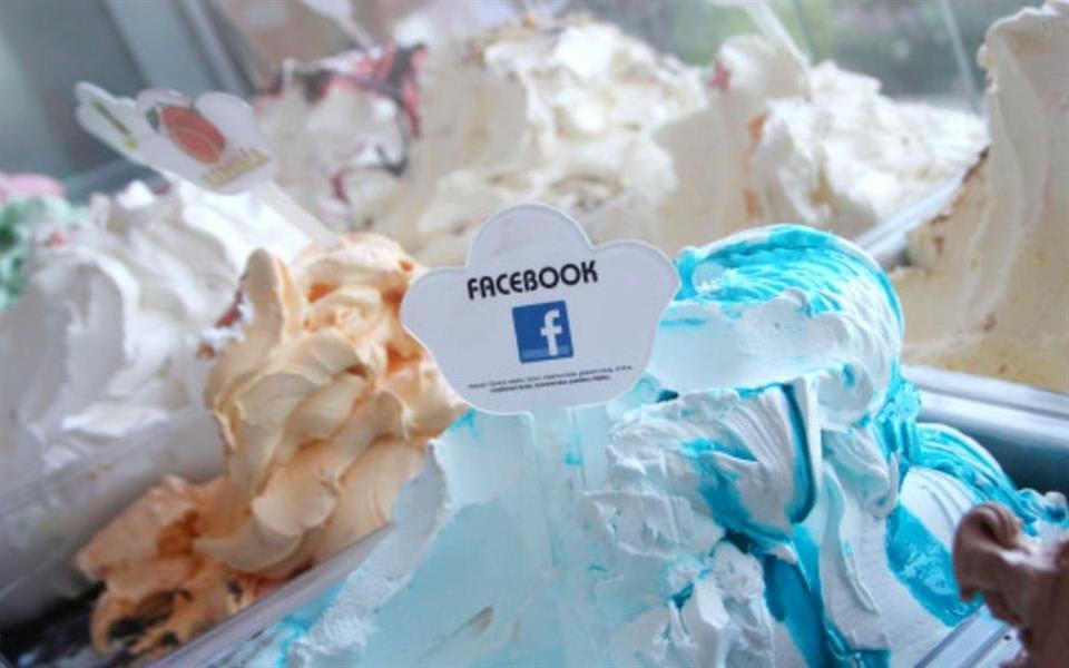 Sorvete sabor Facebook começa a ser vendido na Croácia
