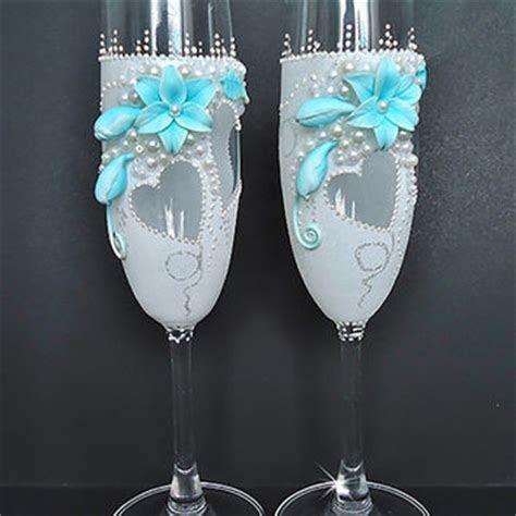 Shop Blue Champagne Glasses on Wanelo