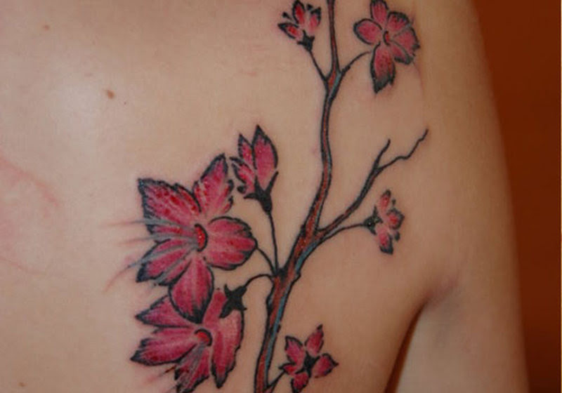 Cherry Blossom Back Tattoos For Girls Tattoos Book 65000