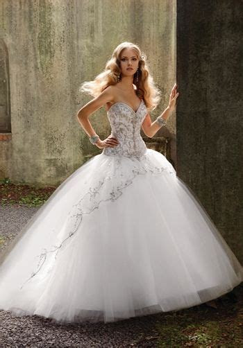 SILK SATIN, TULLE BALL GOWN STRAPLESS BEADED AND