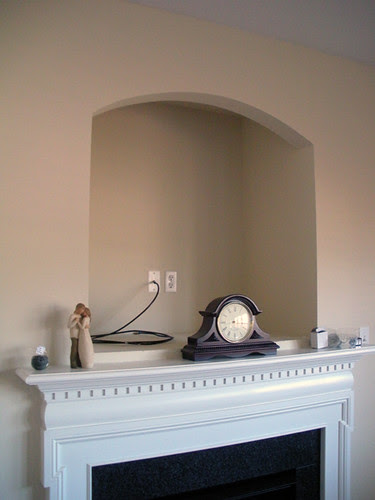 Our Crt Tv Nook To Built In Shelving Project Mirror Fireplace