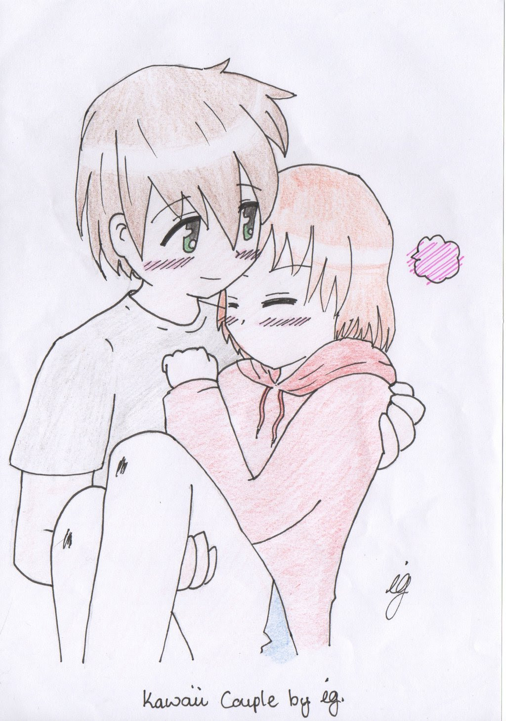 Anime Couple Drawing At Getdrawings Free Download