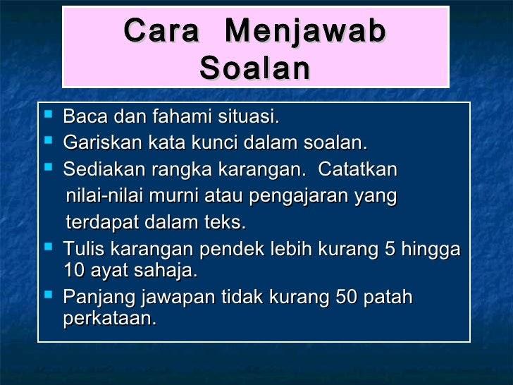 Contoh Soalan Ulasan Bahasa Melayu Tingkatan 2 - Soalan p