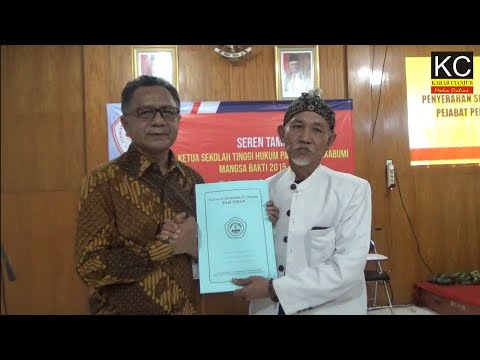 KABARCIANJUR.TV | Sertijab Ketua STH Pasundan Sukabumi