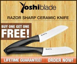 Yoshi Blade - Razor Sharp Ceramic Knife!  Click here for details...