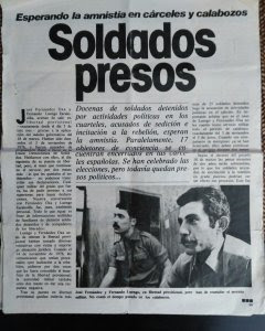 Información sobre los miembros de la UDS presos.