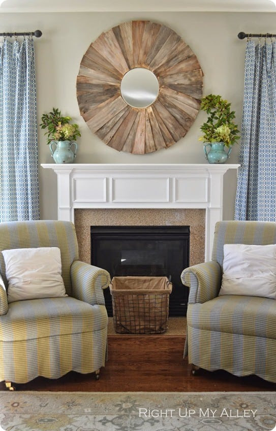 DIY Home Decor ~ Follow this tutorial to create a large statement mirror like those from Ballard Designs for only $43!
