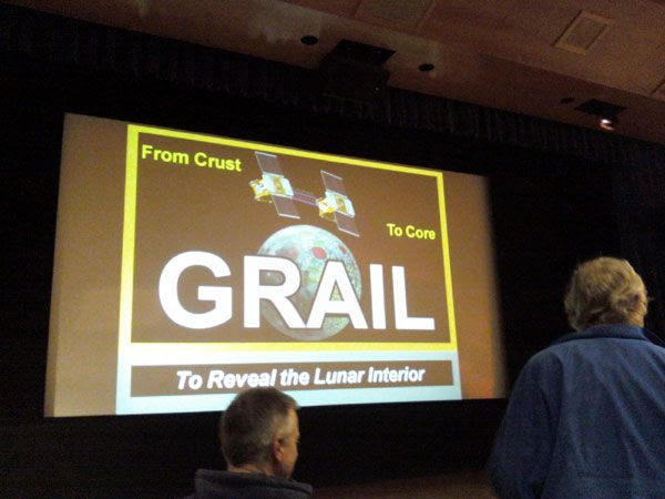 Waiting for the GRAIL lecture to begin.