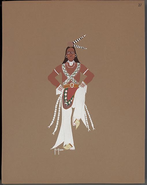 Medicine dance, 1929 - Monroe Tsatoke pochoir print