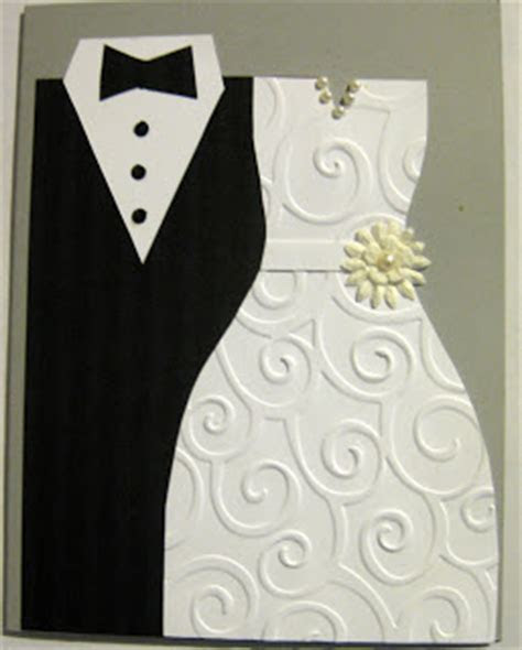 Sassybee Stamps: Tuxedo and Dress Wedding Card