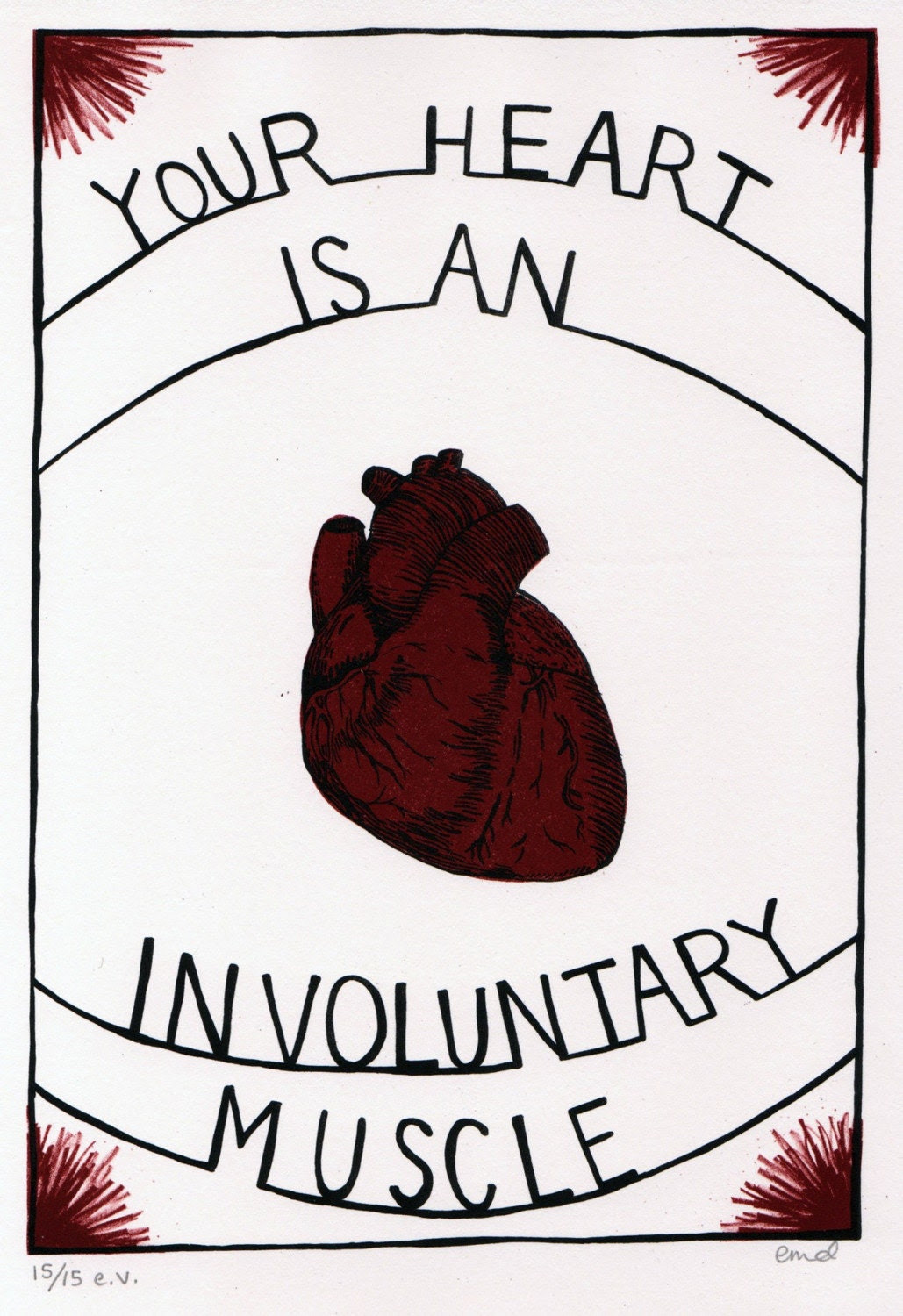 Involuntary Heart Print - 11.75 x 8 in.