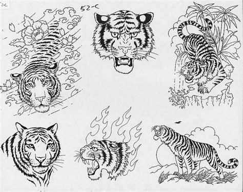 asian tiger tattoo design