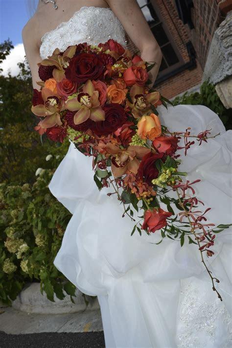 Marah Cole Designs fall cascading bouquet / Rustic