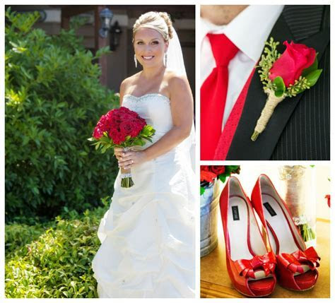 Red & White Themed Wedding   Rustic Wedding Chic