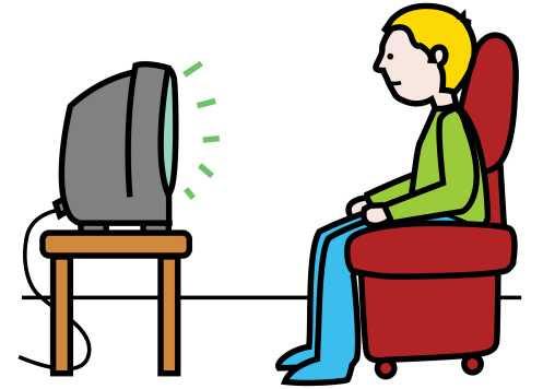 Resultado de imagen de alguien viendo la tele