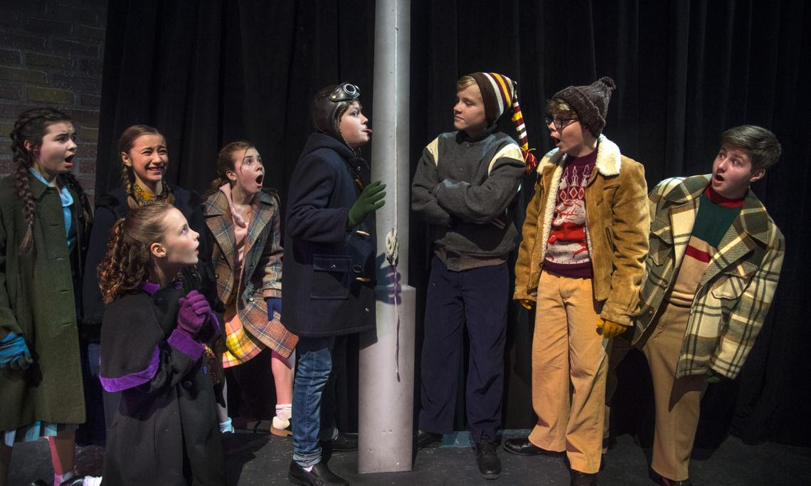 Review Young Performers Shine In Spokane Civic Theatre S A Christmas Story The Musical Spokane Civic Theatre