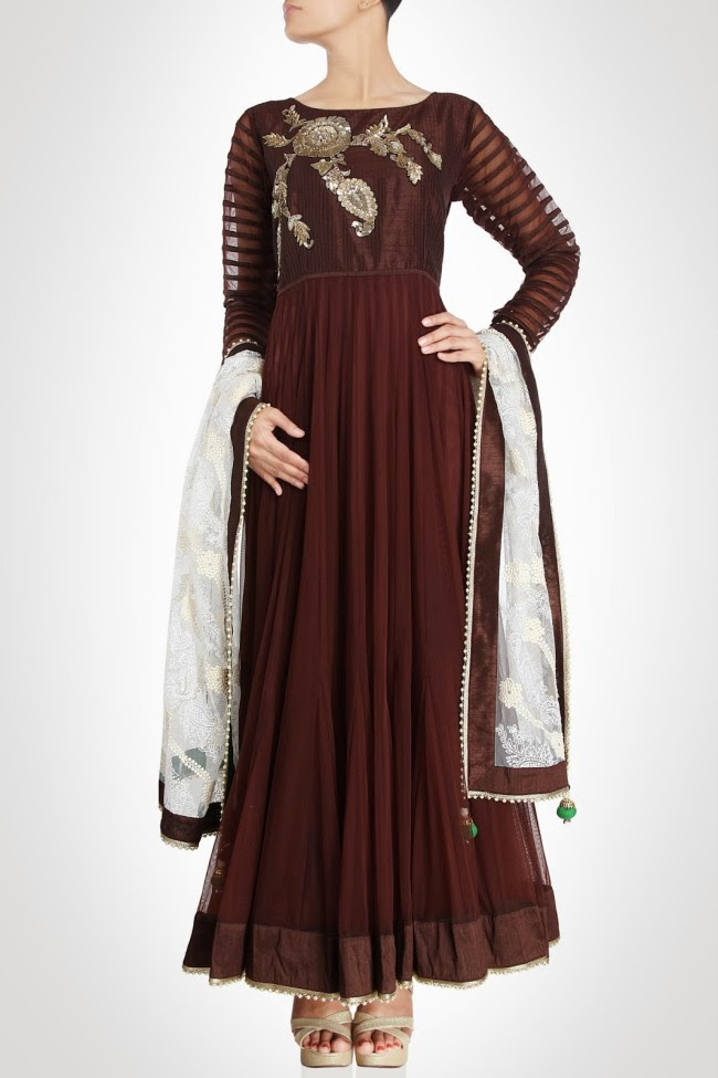 Beautiful-Gorgeous-Wedding-Bridal-Anarkali-Frock-Dresses-for-Girls-Fashion-by-Designer-Kiran-&-Shruti-Aksh-