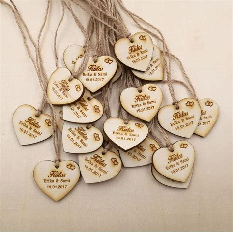 Wholesale Personalized Wedding Favor Tags, Rustic Bridal