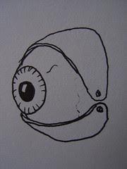 Eyeball - eyelid concept drawing