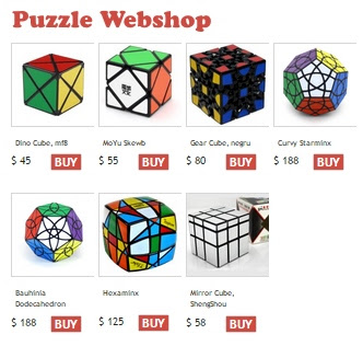 online Rubik's Cube puzzle shops