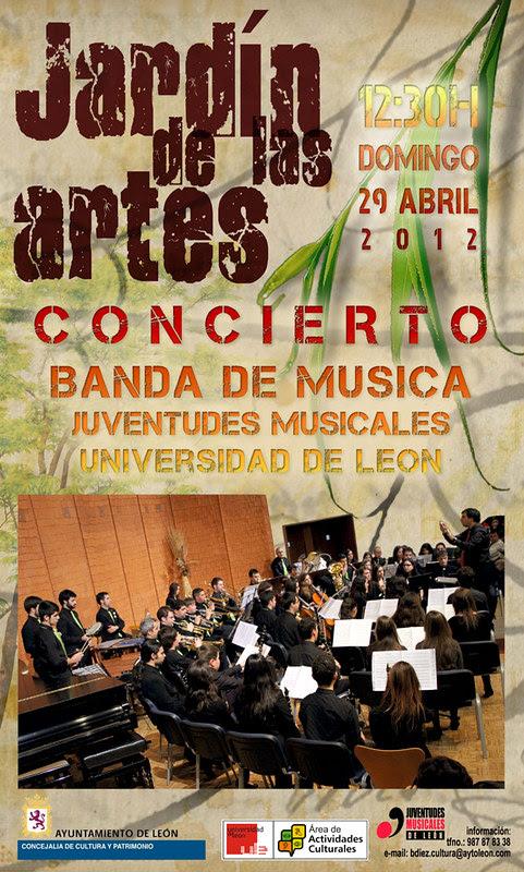 LA BANDA DE MÚSICA JJMM-ULE EN EL JARDÍN DE LAS ARTES - 29.04.12