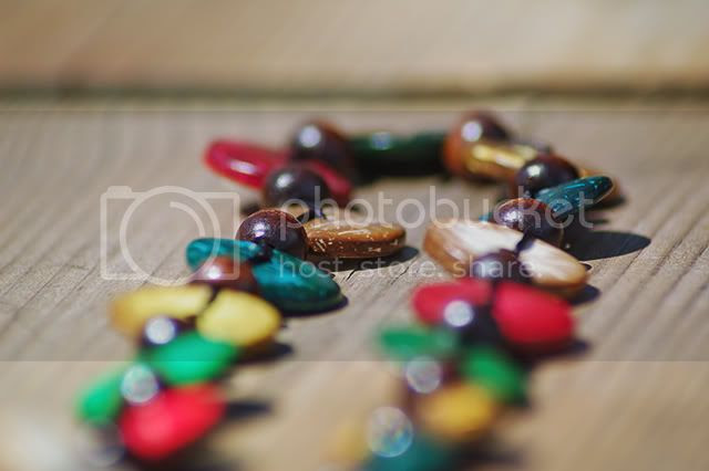 Bead Necklace On Wood [enlarge]