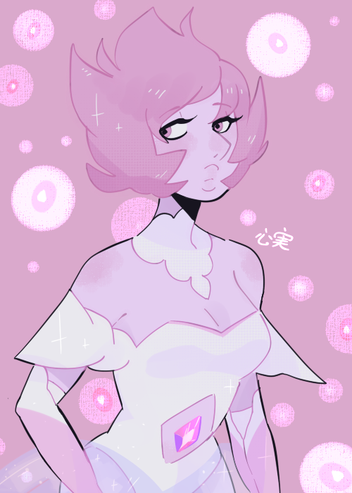 martyrinsomnia said: can you redo/redraw your pink diamond design for funsies? I want to draw my gemsona w/ her!!! Answer: ( ノ^ω^)ノ゚here she is!