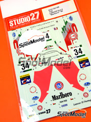 Studio27: Calcas escala 1/24 - Mitsubishi Lancer Evo IV Marlboro Nº 34 - Terry Harryman (GB) - Rally de Cataluña Costa Dorada 1998