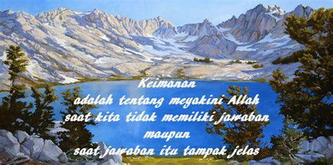 kata kata mutiara  mengandung nilai islami tentang